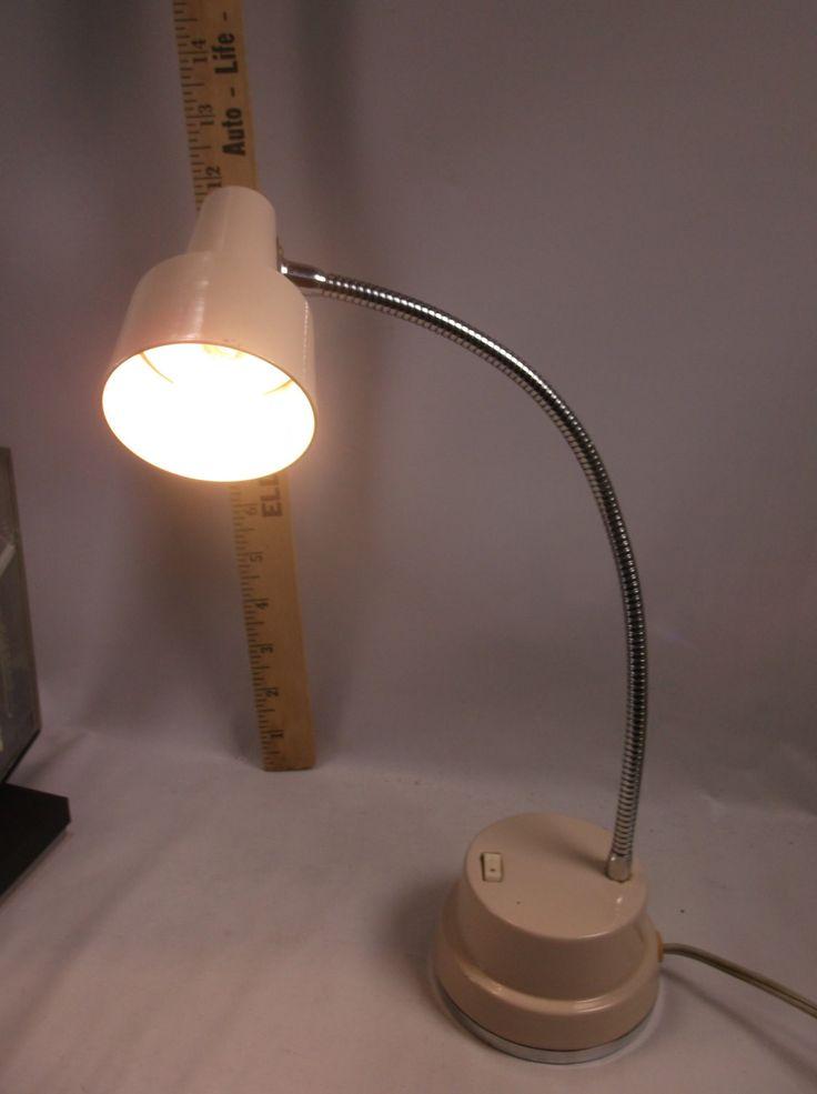 Desk Lamp Mid Century Retro Atomic Age Working Beige Japan.epsteam