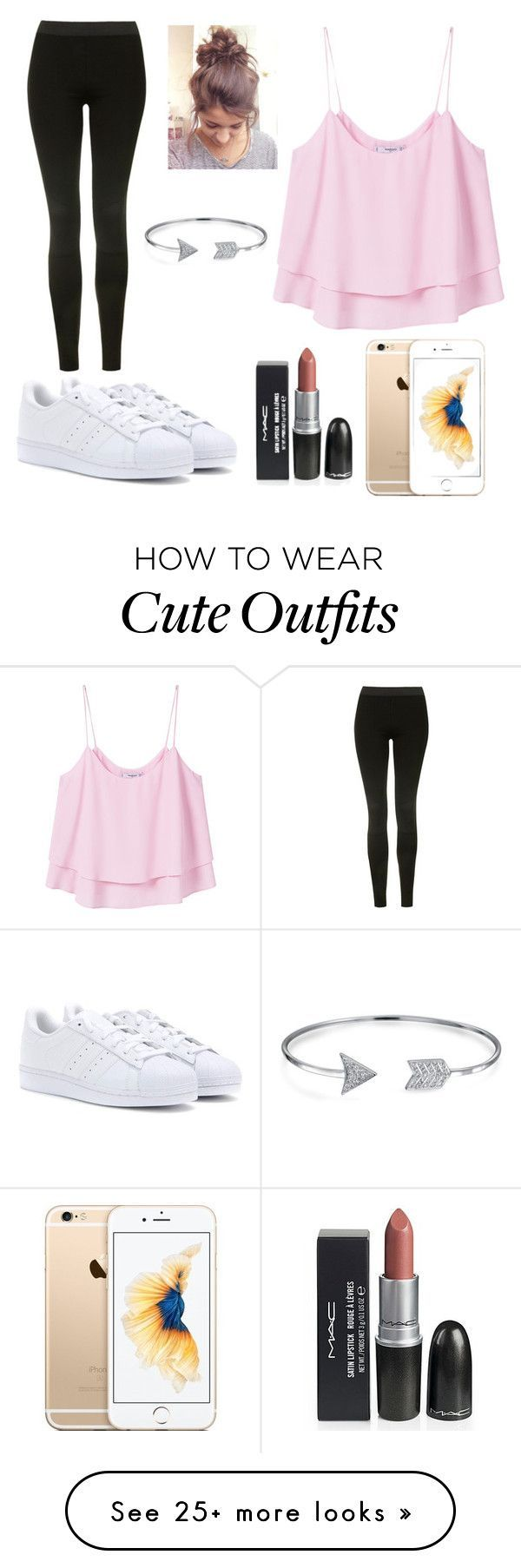 """Festival Outfit"" by mc1307 on Polyvore featuring MANGO, Topshop, adidas and Bling Jewelry"
