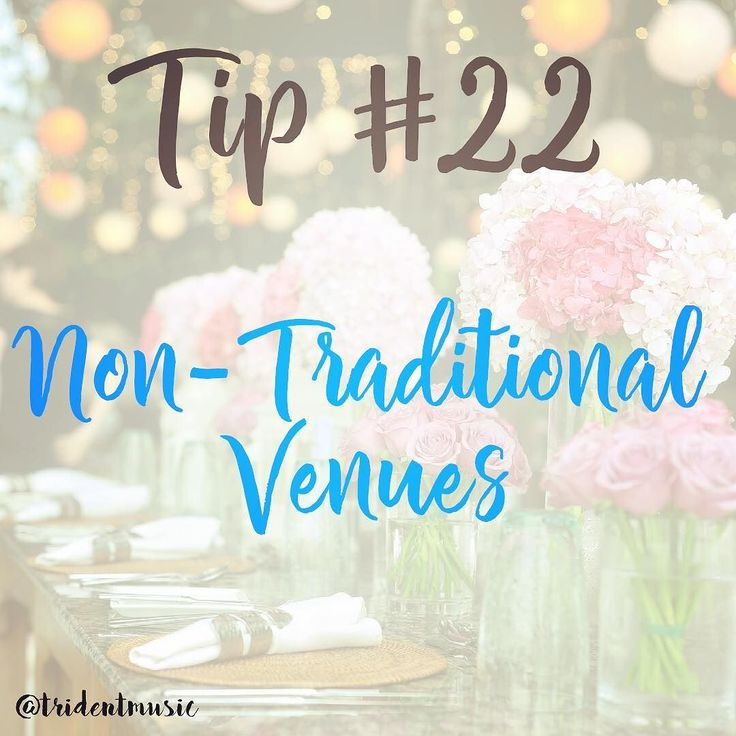 Tip #22 #Tips - Non-Traditional Venues . After a couple long posts.. Here is a quick short tip. . Embrace the non-traditional! If ballrooms aren't your speed consider offbeat venues such as a museum planetarium gallery or theatre. The venue will act as a beautiful backdrop and you can save on flowers and décor while still still having a unique event space! . As simple as that. If you feel the slightest things arent your style. Change it. Nothing wrong with that! . Have a great Tuesday!