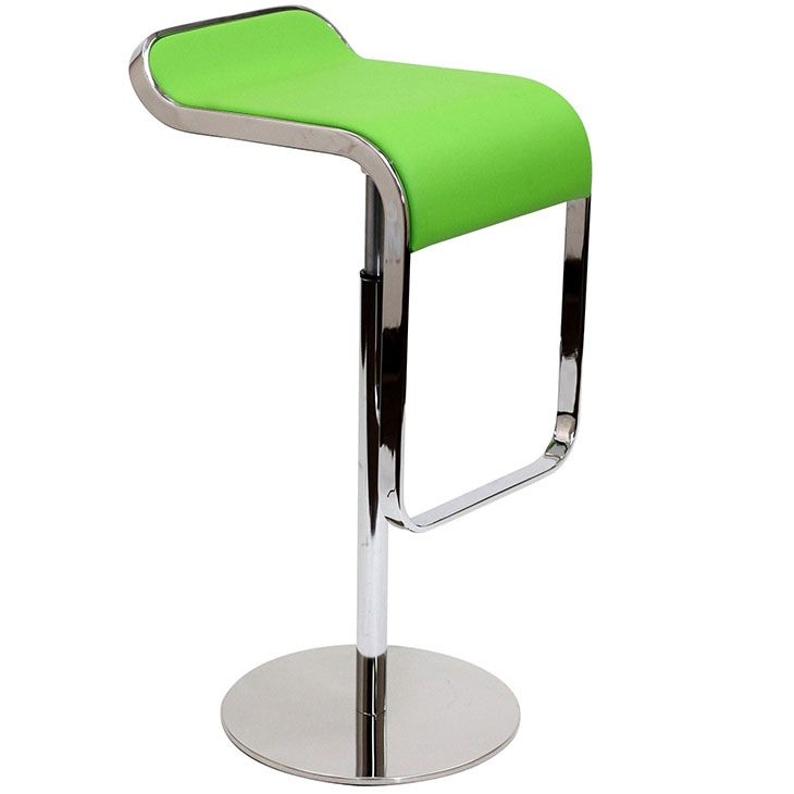 Amazing Lem Barstool In Green Genuine Leather