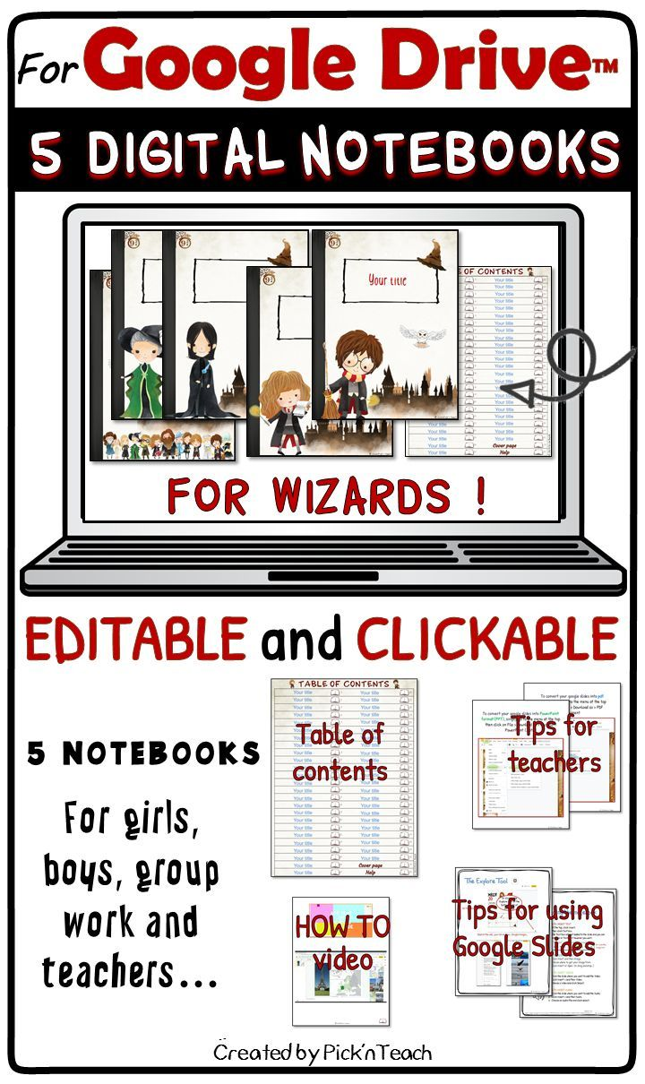 Distance Learning 5 Digital Notebooks For Any Subject Google Slides Wizards Digital Notebooks Vocabulary Activities Class Book