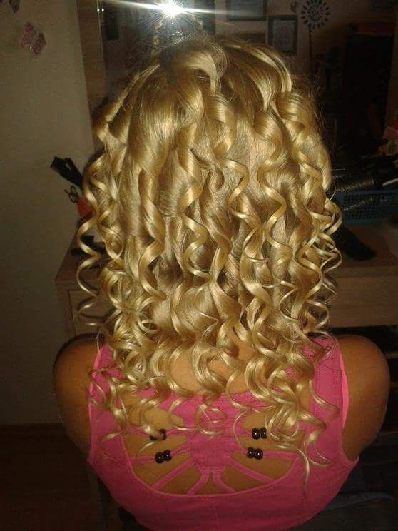 My nature blond hair