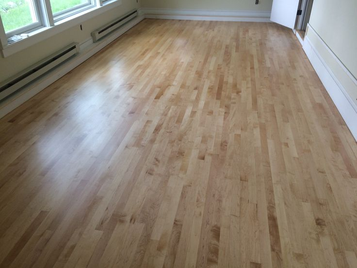 Personal dance studio, with a sprung floor system. Canadian hard Maple with Loba's Transparent impact oil