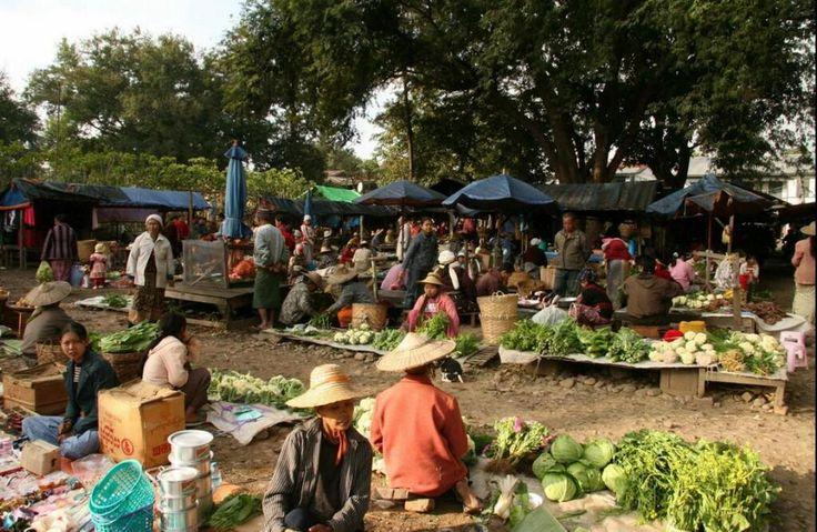 mercado en Hsipaw, Myanmar
