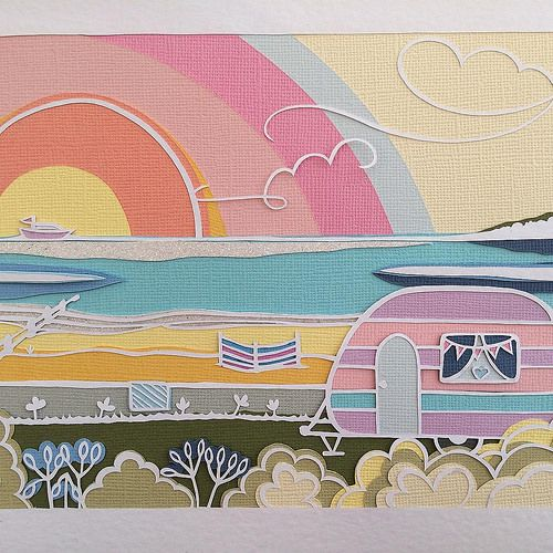 Apple Seed Paper Cuts - Seaside Caravan