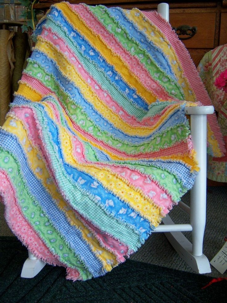 rag quilt in strips