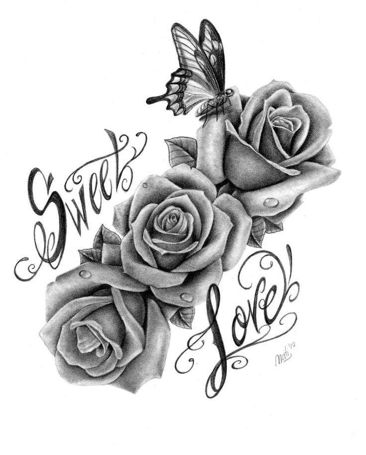 rosas con mariposa