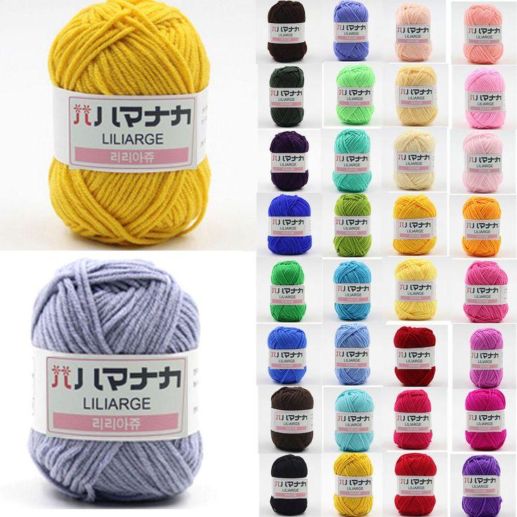 NEW 42 colors Soft Cotton Bamboo Crochet Knitting Yarn Baby Knit Wool Yarn   Рукоделие, Вышивка и вязание, Пряжа   eBay!