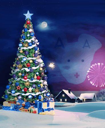 Animated Fireworks Christmas Новый год