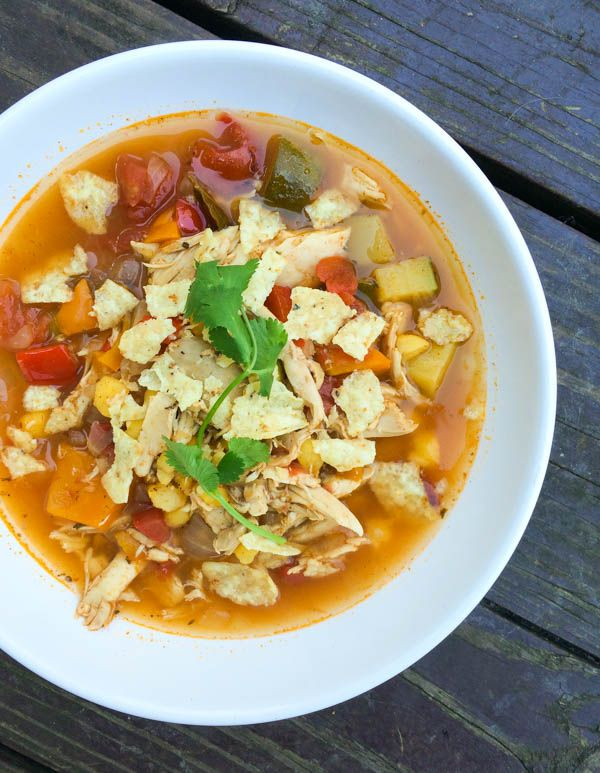 Chicken Tortilla Soup with Hominy