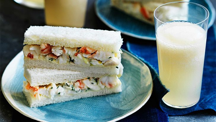 These delicate lobster sandwiches are a simple way to add something special to your Valentine's Day supper in.