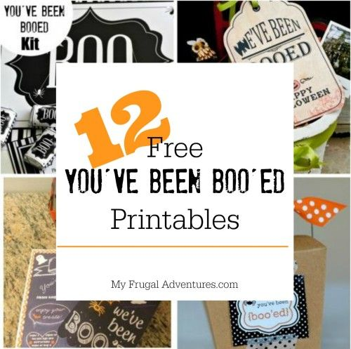 12 Free Youve Been Booed Printables and Ideas. Such a fun Halloween tradition for the kids!