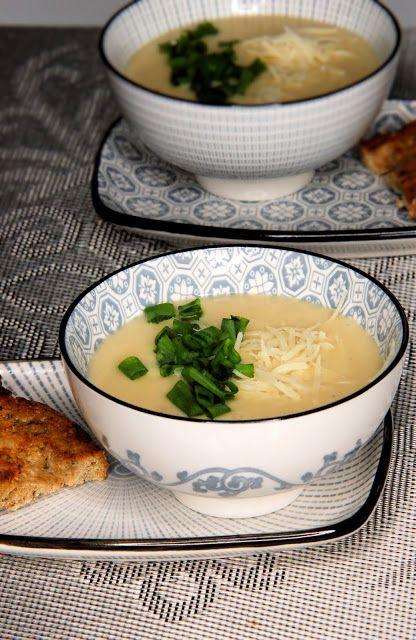 szczypta smaQ: Zupa krem z pieczonego kalafiora