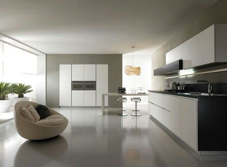 Large Open Space Modern Kitchen