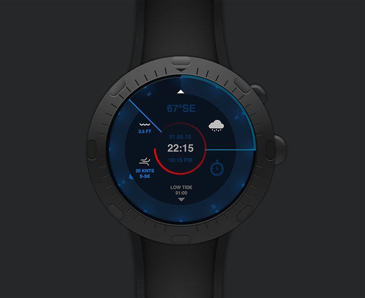 Black/blue watch UI
