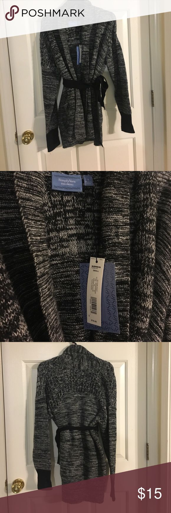 cardigan belted with pockets brand new, retails for $78 Simply Vera Vera Wang Sweaters Cardigans