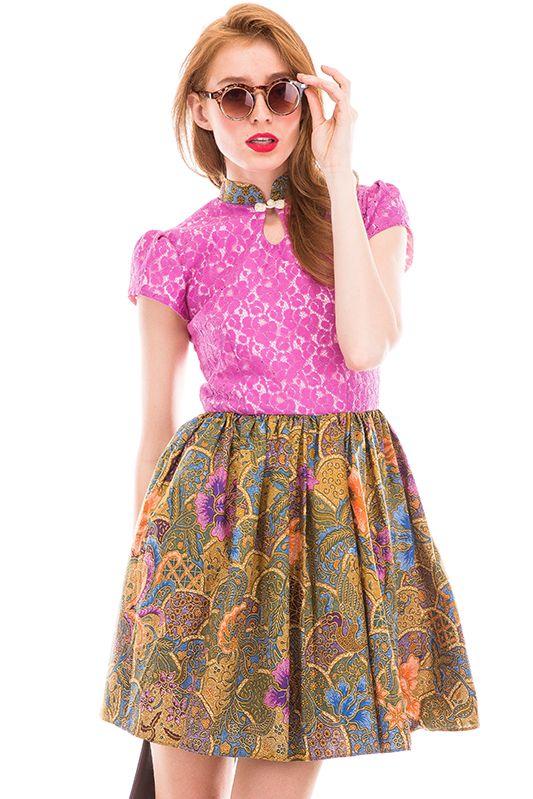 Batik dress | Qipao Dress | Lace Dress | Ken Dedes Dress available at buy8wood.com