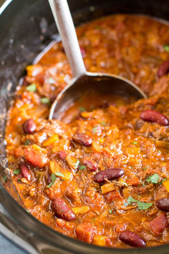 Shredded beef and a crock pot make my Slow Cooker Chili Con Carne the easiest recipe around. And you won't sacrifice an ounce of flavor!