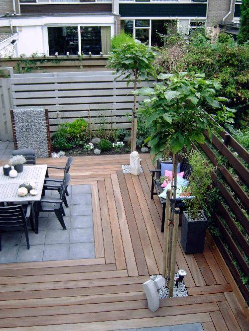 Vlonderplanken in combinatie met tegels   LIFS   OUTSIDE LIVING   Pinterest   Met and