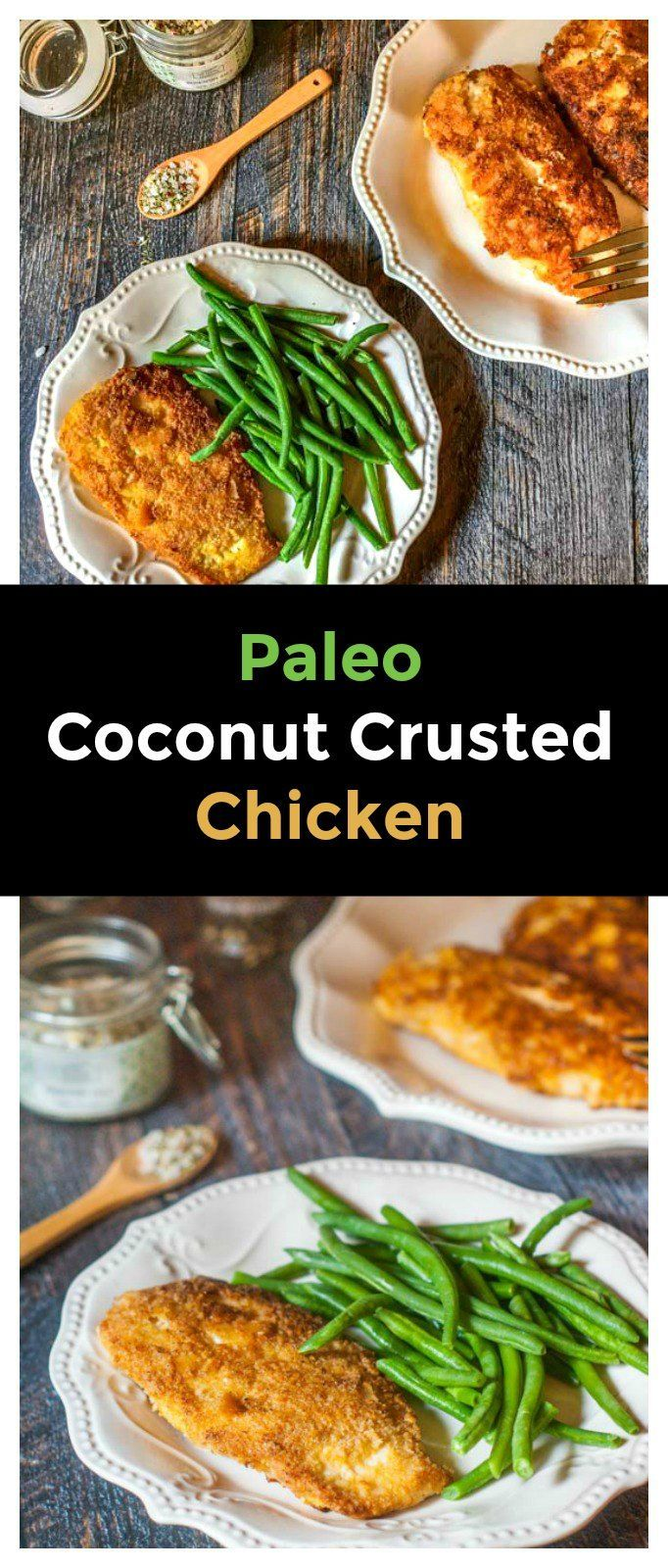 A quick and easy low carb dinner - Paleo Coconut Crusted Chicken