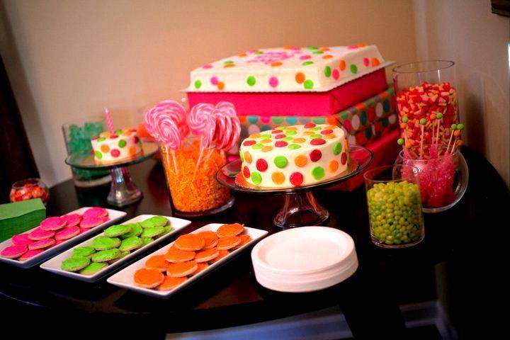 Suprimentos Polka Dot aniversário, decoração, vestuário