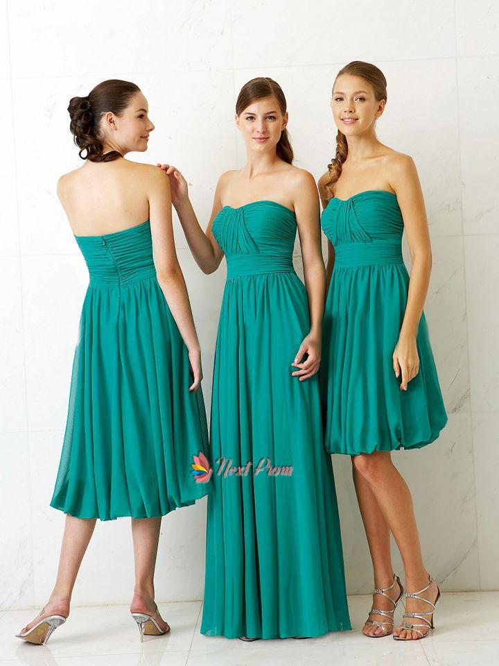 Dark turquoise chiffon bridesmaid dress bridesmaid dress for Turquoise wedding dresses for bridesmaids