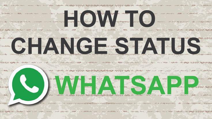 How to change whatsapp status: http://youtu.be/LI9eO4dPrsE #youtube #video #whatsapp #status #messenger #socialmedia #socmed #youtubers #tutorial