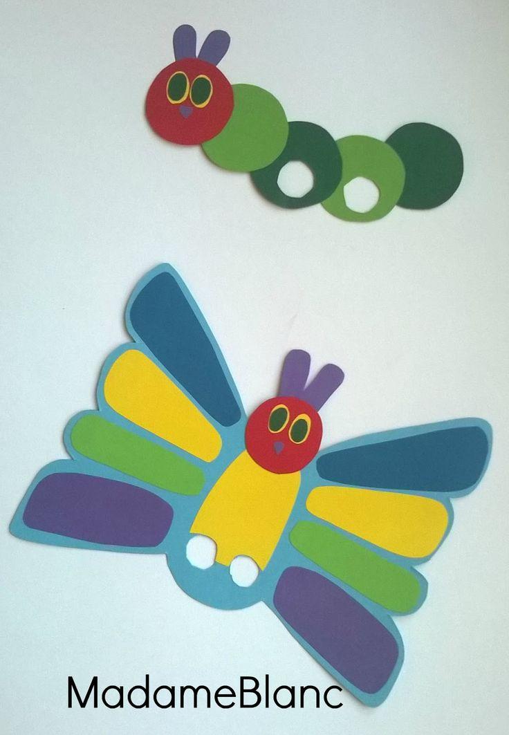 Raupe Nimmersatt Kindergeburtstag Party Basteln Schmetterling
