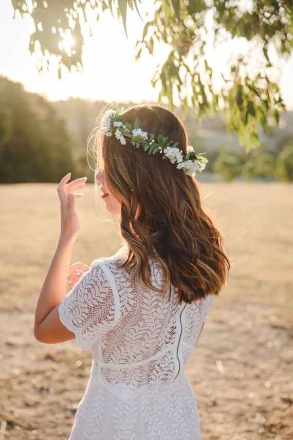 wildflower flower crown // wedding flower crown / baby's