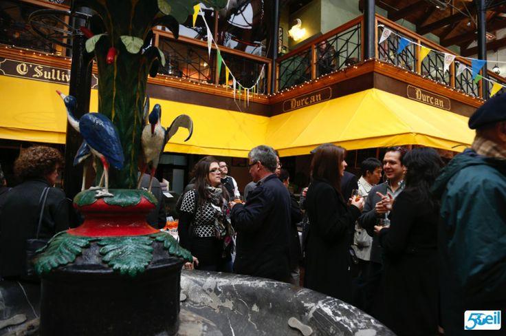 Delegates around the fountain at the English Market #EILGA2014