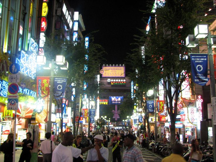 """Kabukichō - is an entertainment and red-light district in Shinjuku, Tokyo, Japan. Kabukichō is the location of many host and hostess clubs, love hotels, shops, restaurants, and nightclubs, and is often called the """"Sleepless Town""""."""