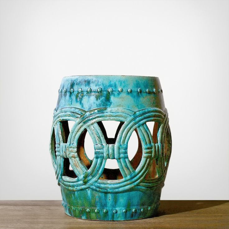 Hamptons Ceramic Stool - Side & Occasional Tables - Furniture