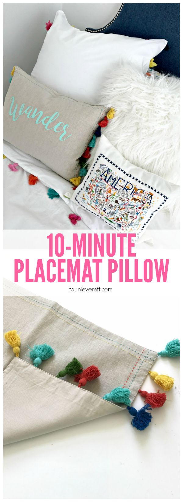 10 Minute Placemat Pillow for the Guest
