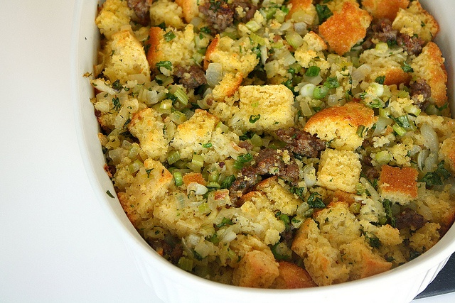 Cornbread & Sausage Stuffing by Tracey's Culinary Adventures, via ...
