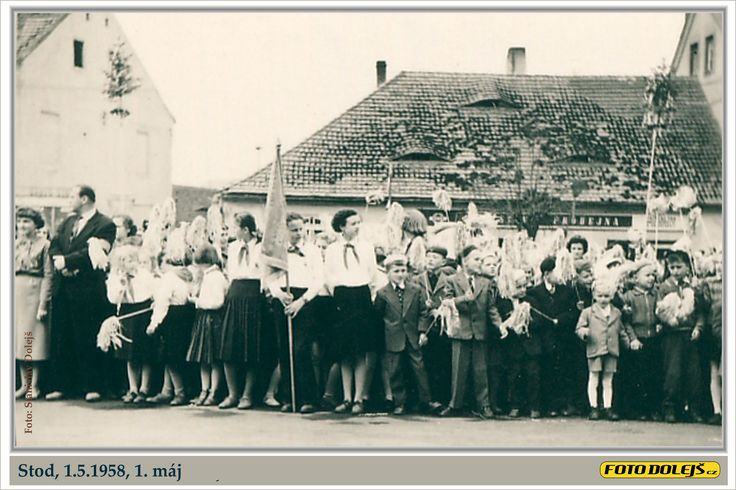 Stod 1958 5 1, 1. oslavy máj  foto Stanislav Dolejš