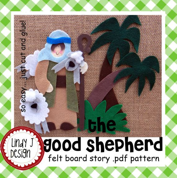 The Good Shepherd BIBLE Story Flannel/FELT Board by LindyJDesign