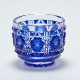 ** Sklenička - modré sklo ♣ Edo Kiriko **