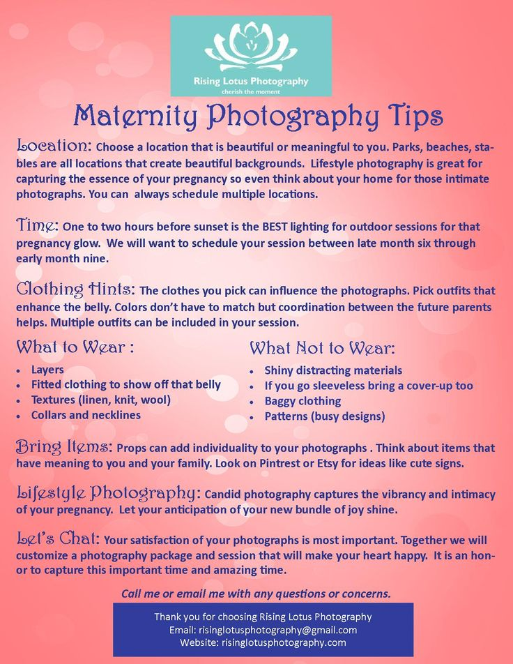 Maternity Photography Tips  ... what to wear and not to wear tell tell photos