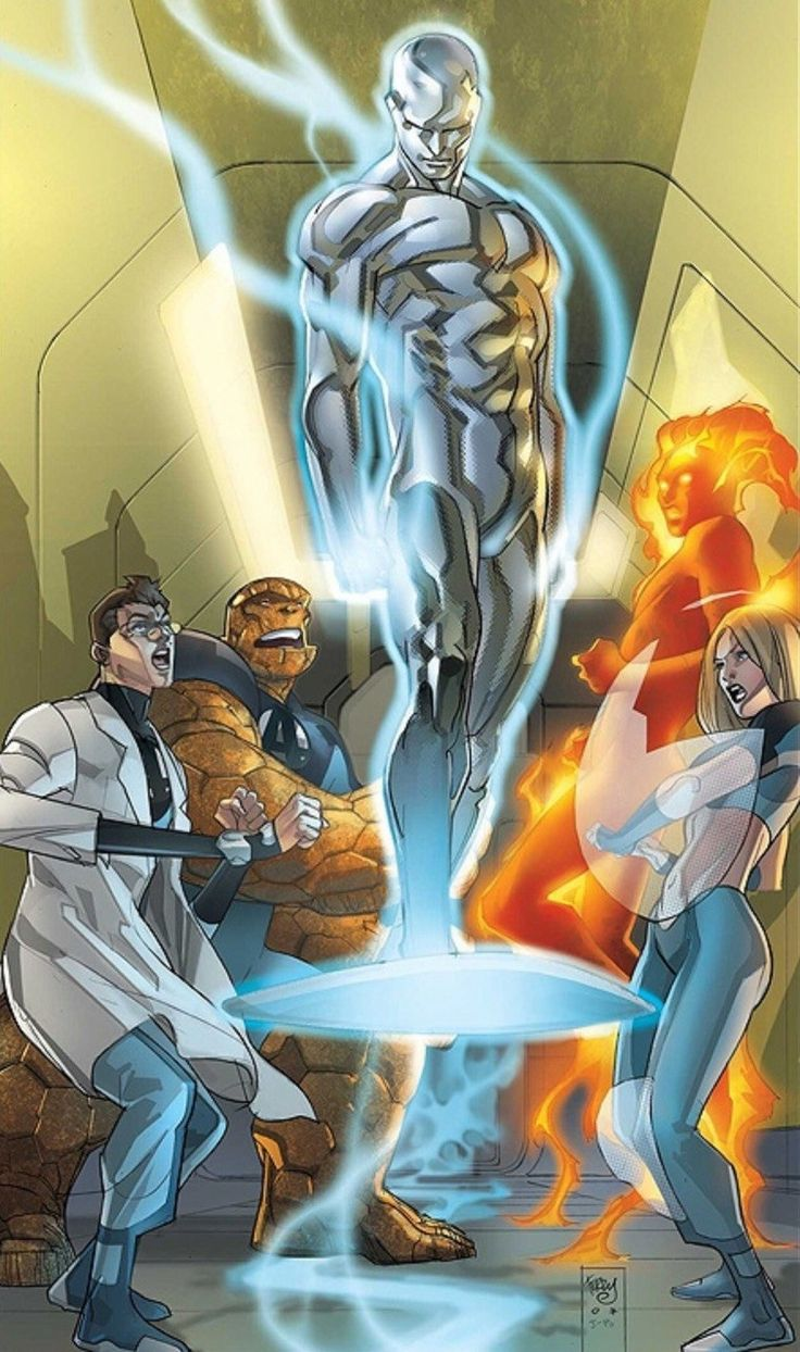 Ultimate  Silver Surfer & Fantastic Four By Pasqual Ferry