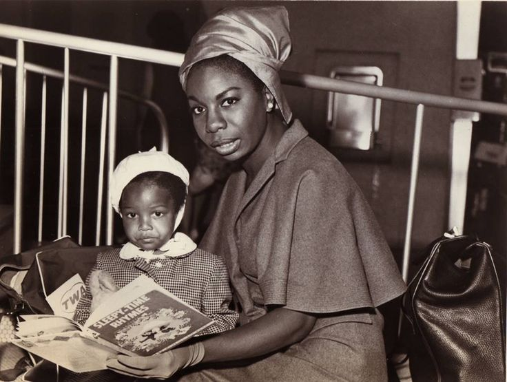 Nina Simone born February 21, 1933, departed physical form April 21, 2003. Pictured with her daughter Lisa Celeste Stroud, who performs under the stage name 'Simone'