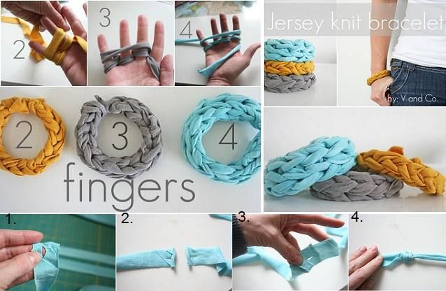 Finger knitting, it is one of the easiest and most accessible forms of...