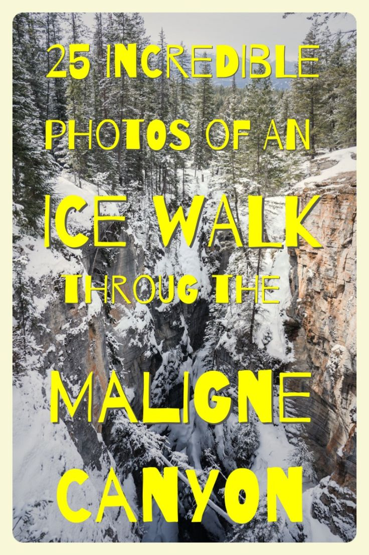 Our Ice Hike through the Maligne Canyon in Jasper National Park was an incredible out of this world experience. These 25 Photos show you why!