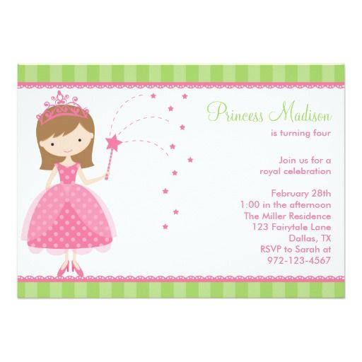 princess themed birthday party invitations