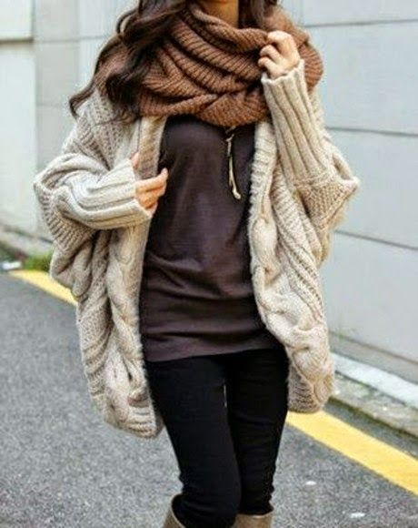Oversized Knitted Cardigan. #warmth