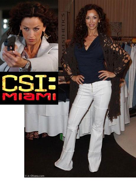 CSI Miami Sofia Milos in our Marina Hip hugger.
