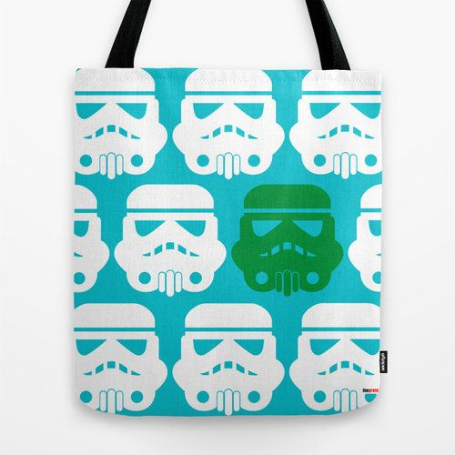 Star wars Tote Bag Geek Bag Blue and white design by thegretest, $36.00