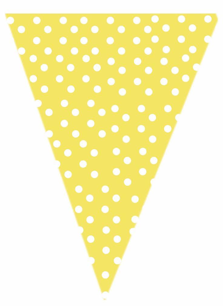 free yellow polk-a-dot printable banner | printables ...