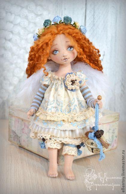 Коллекционные куклы ручной работы. Ярмарка Мастеров - ручная работа Аришка - рыжий Ангел. Handmade.