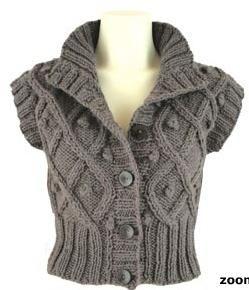 Onion Knit Alpaca + Wool, strikkeopskrift: Vest med aran-mønster - STOF og STUFF - kreativ livsstil | Stof, metervarer og tekstiler.