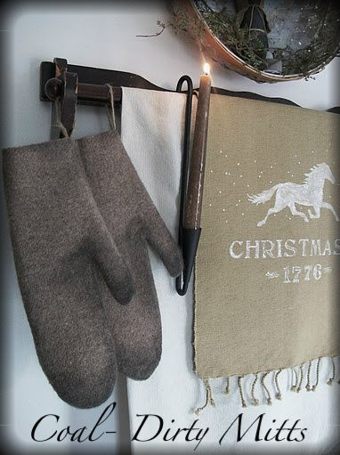 Our Pioneer Homestead: A Colonial Christmas #11. Decorative Mittens.